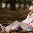 Japanese lolita in park — Stock Photo