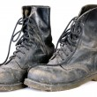 Old dirty boots — Stock Photo