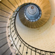 Dynamic view of high lighthouse staircase, 392 steps, vierge island, brittany,france — Stockfoto