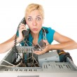 Woman computer problems — Stockfoto
