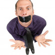 Censored businessman — Stock Photo