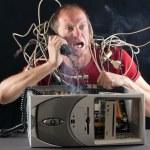 Man computer problem — Stock Photo #13377036