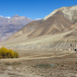 Stock Photo: Nepal arid mountains
