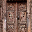 Royalty-Free Stock Photo: Temple wooden carved door