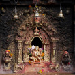 Hindu sacred altar — Stock Photo