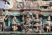 Indian temple sculptures — Stock Photo