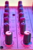 Audio mixer detail — Stock Photo