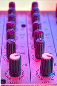 Audio mixer detail — Stock Photo