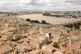 Bordeaux und garonne fluß — Stockfoto