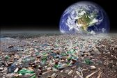 Earth sinking in pollution — Stock Photo