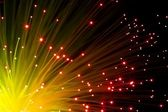 Orange optic fibers — Stock Photo