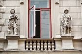 Romanian building facade — Stock Photo