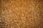 Golden tiled floor — 图库照片
