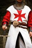 Templar knight — Stock Photo