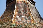 Colorful tiled roof — Stock Photo