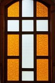 Cross on stained glass — Stock Photo