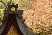 Japanese temple at fall — Stock Photo