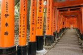 Fushimi Inari shrine tunnel — Stock Photo