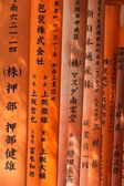 Religious japanese writing — Stock Photo