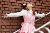 Stressed japanese lolita — Stock Photo