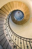 Dynamic view of high lighthouse staircase, 392 steps, vierge island, brittany,france — Stock Photo