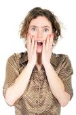 Surprised young woman — Stock Photo