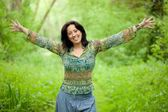 Woman in nature — Stock Photo