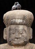Hinduiska templet väktare staty — Stockfoto