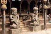 Entrée du temple hindou au népal — Photo