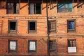 Crooked facade building — Stock Photo