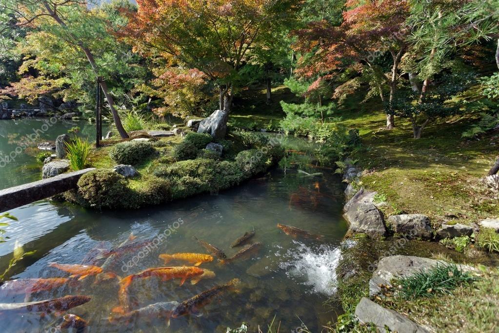 Jardim zen do Templo de Tenryuji — Fotografias de Stock © smithore