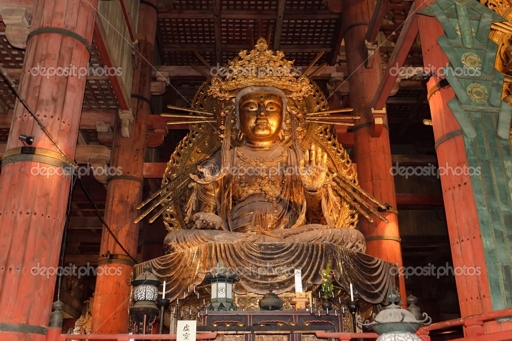Amida Buddha Statue Amida Buddha Giant Metal Statue in Todaiji Temple Nara Japan Photo by