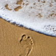 Stock Photo: Dying footprint