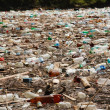 Big plastic pollution - Stock Photo