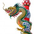 Dragon statue isolated — Stock Photo #13381766