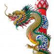 Dragon statue isolated — Stock Photo