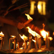 Buddhist candles — Stock Photo