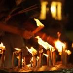 Buddhist candles — Stock Photo #13381904
