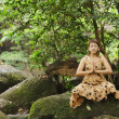 Woman meditation in nature — Stock Photo