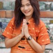 Thai woman praying — Stock Photo