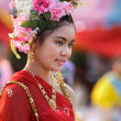 Thai woman in traditional dress — Stock Photo