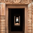 Stock Photo: Khmer temple entrance