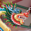 Chinese dragon sculpture — Stock Photo