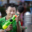 Stock Photo: Thai songkrfestival: mholding squirt gun