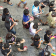 Thai teenagers at songkran festival — Stock Photo
