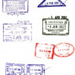 Asian passport stamps vectors — Stock Photo