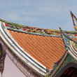 Buddhism temple roof — 图库照片