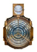 Lighthouse fresnel lens isolated — Stock Photo