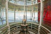 Lighthouse bulb and fresnel optic — Stock Photo