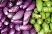 Eggplant in market — Stock Photo